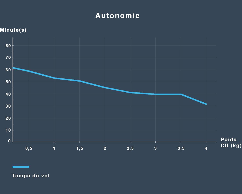 Tableau de l'autonomie des bras Endurance
