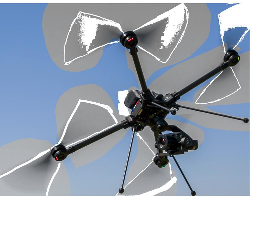 Photo d'un drone Tundra en vol